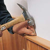 nailing in the cap rail