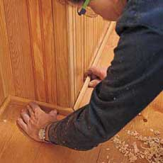 installing beadboard wainscoting tout
