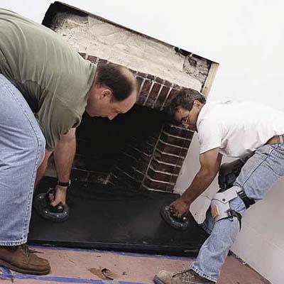 rebuilding a fireplace