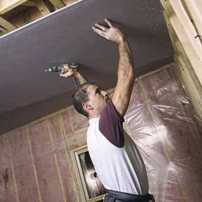 Cover The Ceiling How To Hang Drywall This Old House