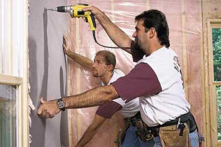hanging drywall tout