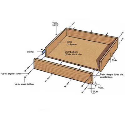 Diagram: pull-out shelf