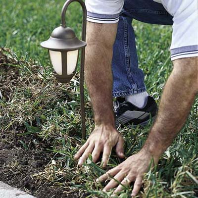 Replacing the sod after installing landscape lighting