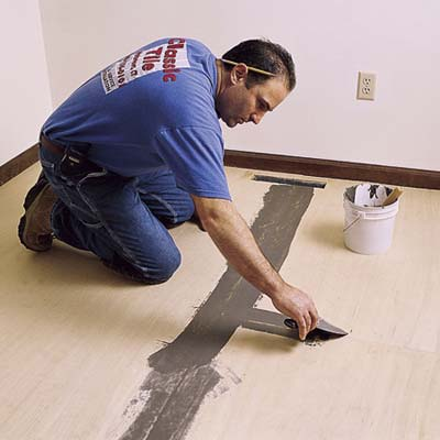Put Down Underlayment How To Lay A Vinyl Tile Floor