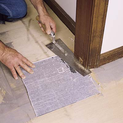 Trim The Door Jamb And Casing How To Lay A Vinyl Tile