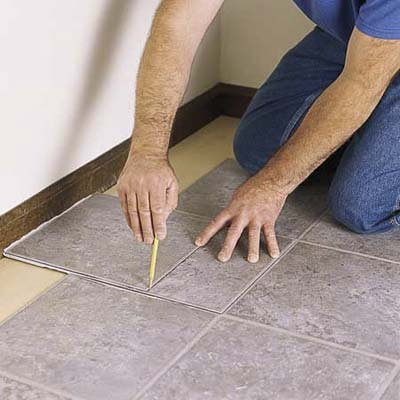 Scribe Tiles To Fit Along Walls How To Lay A Vinyl Tile Floor This