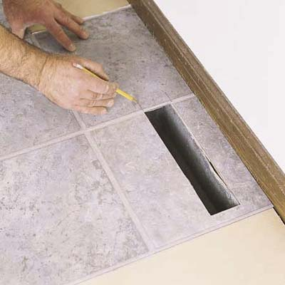 Trim Tiles Around Heat Registers How To Lay A Vinyl Tile