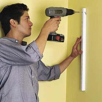 installing wall-mounted shelves