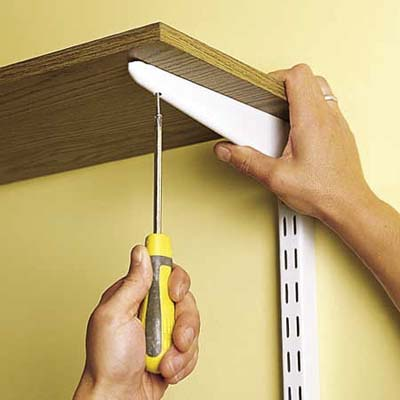 installing wall-mounted shelves