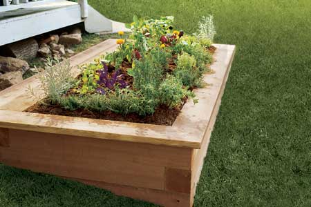 Raised Garden Made Of Wood