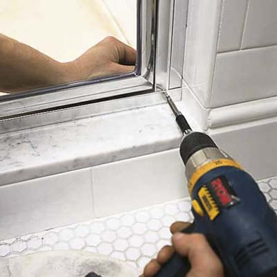 Screw Together The Frame How To Install A Shower Door