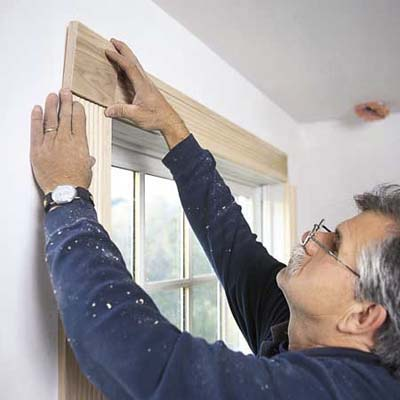 trim a window with moldings