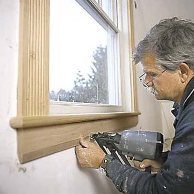 Cut And Install The Apron How To Trim Out A Window