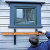 installing the second bracket of a window box