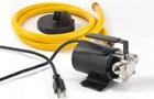 electric pump and garden hose