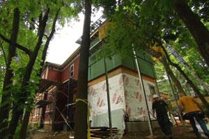 renovations underway at the Arlington Italianate