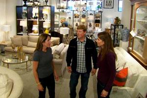 Kevin O'Connor, homeowner Heather Faulds, and designer Christine Tuttle at Boston's Design Center