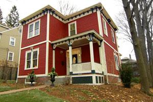 the Arlington Italianate finished exterior