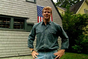kevin o'connor outside the exterior of the concord cottage house project 2003