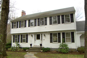 the Lexington Colonial project house before renovation begins
