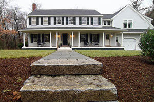 finished Lexington Colonial front exterior