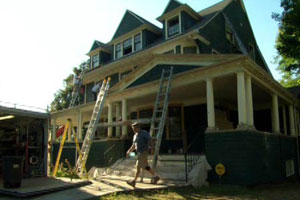 renovation continues at the Newton house project