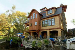 exterior landscaping at the Weston house project