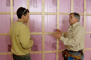 Tom Silva demonstrates insulating a basement