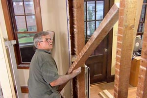 Tom Silva removes a load-bearing wall