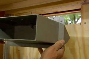 installing a ventilation unit for a microwave