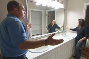 Richard Trethewey installs a new sink into an existing vanity