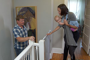 Kevin O'Connor installs an outlet cover to childproof a home
