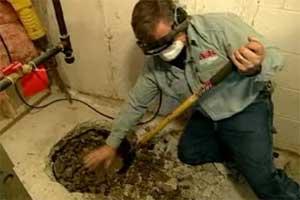 Tom Silva installs a sump pump