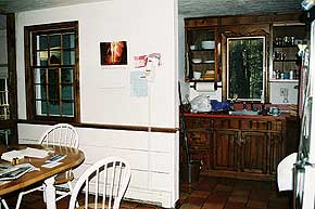 awkward kitchen area in 1970s Cape Cod-style house