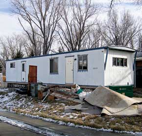 rescraping old trailer homes