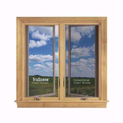 Andersen window screen with micro-fine steel mesh