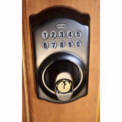 Schlage password-protected door lock