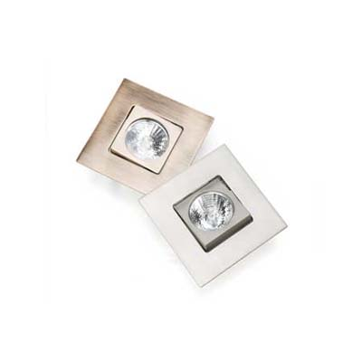 swiveling lens on flush-fitting trim kit for recessed downlights