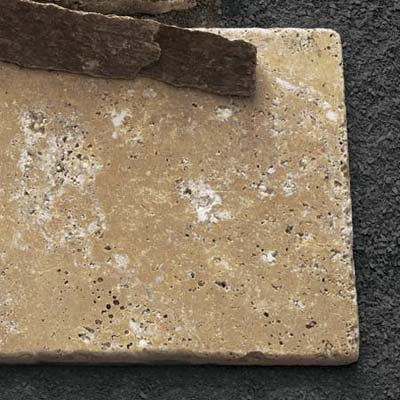 flat travertine tile
