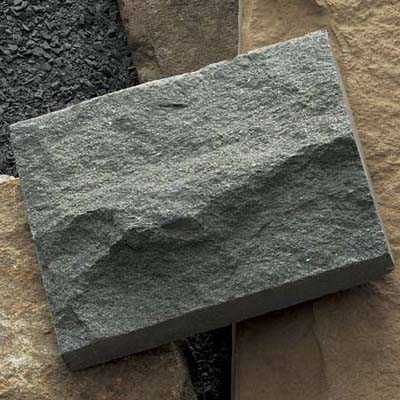 randomly sized square and rectangle chunks of bluestone