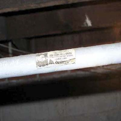 water supply line utilizes plastic conduit