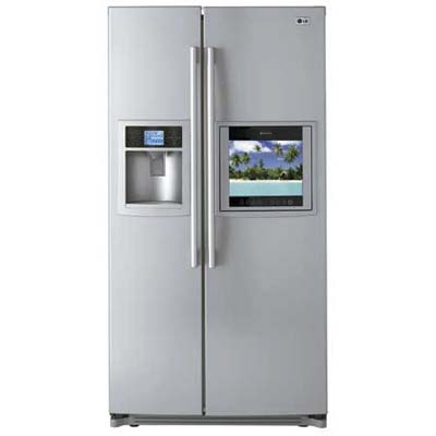 LG Electronics high-definition tv refrigerator