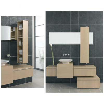 Revolvingstorage unit from VitrA that can be left open or closed