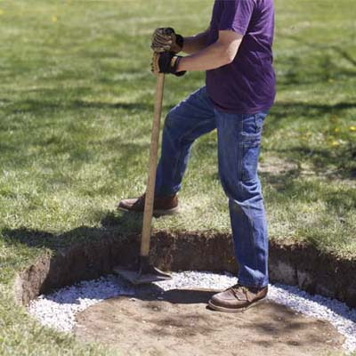 Fill the Trench for the Fire Pit