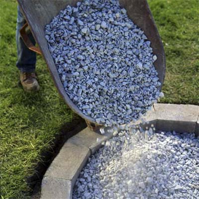 Fill the Fire Pit with Gravel