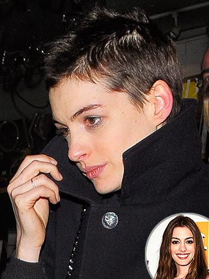 Anne Hathaway Steps Out with Super Short Hair | Anne Hathaway