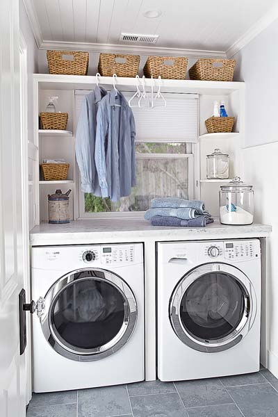 12 laundry room organization ideas - domestically speaking Laundry Area Ideas
