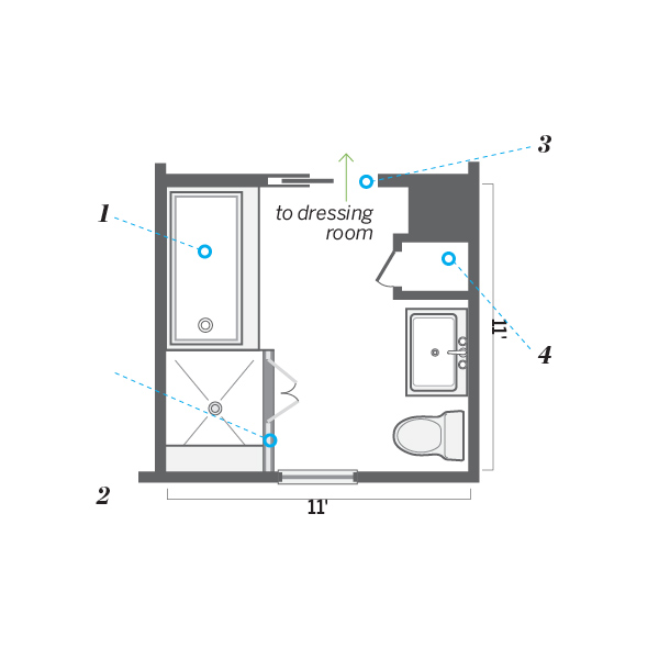 Bedroom Bath Addition Plans Nrtradiantcom - Bathroom laundry room layout