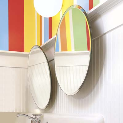 fun bathroom mirrors playful mirrors light and bright bath this house 12929